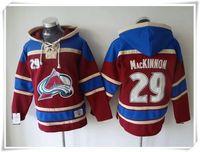 Wholesale Hoodies Jerseys Men ICE Hockey Avalanche MacKinnon Landeskog Red Best quality stitching Jerseys Sports jersey Mix Order