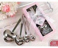 achat en gros de cuillères à mesurer faveur du parti-fête de mariage cadeau de faveur et des cadeaux pour les invités - Love Beyond Measure Coeur cuillères à mesurer en boîte-cadeau 100sets / lot