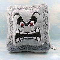 "Wholesale Super Mario Bros Plush Characters - Wholesale-New Super Mario Bros 9"" Thwomp Dossun Character Pillow Plush Toy Cushion Doll"