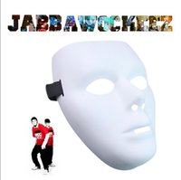 Wholesale JabbaWockeeZ masks Men s Womens mask Halloween Costumes hip hop dance White Face Mask Gloves ghost step Performances dancers set