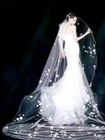 bulk yarn - bridal veil Long wedding veil soft lace wedding ceremony of new three dimensional flowers m bulk yarn meters