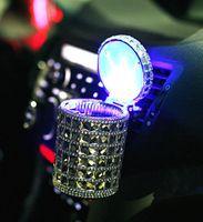 Wholesale Premium luxury design Portable Car Auto LED Light Smokeless Ashtray Cigarette Holder