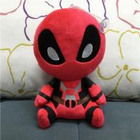 Precio de Superhéroes juguetes de peluche-8 pulgadas Deadpool juguetes de peluche muñeca suave del ccsme de la película X-men super héroe Deadpool de los animales rellenos de algodón PP muñeca 20cm