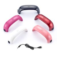 Wholesale 9W Mini USB Nail Dryer For Curing Nail Dryer Nail Gel Polish Dryer Lamp Led Rainbow Lamp For Nail Art Tools