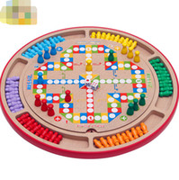 Wholesale Children educational toys ten in one multi functional flight chess backgammon checkers adult parent child wooden toys