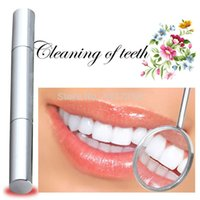 Wholesale 1 piece Silvery White Bleach Stain Eraser Teeth Whitening Pen Tooth Gel Product Dental Pencil Whitener Remover Dentist Tooth Care