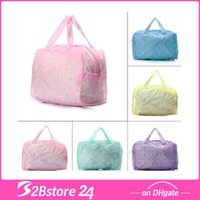 Wholesale Floral Makeup Cosmetic Bag Toiletry Travel Wash Transparent Pouch Waterproof Bag