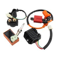 Cheap GOOFIT Racing Ignition Coil CDI Spark Plug Regulator Rectifier Relay 150cc-250cc ATV Quad Go Kart Moped Scooter Group-62 order<$18no track