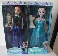 Wholesale Christmas Gifts New Arrival joint inch Frozen Doll Anna and Princess Elsa with Olaf Toys For kids baby girls