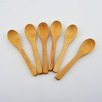 Wholesale 50pcs Newest Solide Feeding Small Wooden Baby Spoon