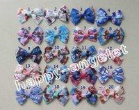 Cheap Hair Bows frozen Best Blending Print ribbon Flower
