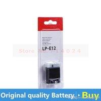 Wholesale original LP E12 digital batteries LP E12 LPE12 Camera Battery For Canon EOS M M2 D Kiss X7 Rebel SL1