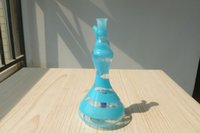 blue ribbon - 2015 new blue ribbon hookah bottle water glass bong pipe oil rigs glass bongs