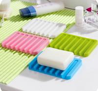 Wholesale soap box drain soap box fashion portable candy color soap box