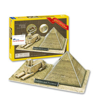 childrens toys and gifts - Top World famous buildings Jigsaw Model D Puzzle Sphinx and pyramids DIY Xmas Gift Toys for childrens day Learning Education