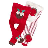 Wholesale 2015 Winter Children PP Pants Christmas Design red Cotton snowflake Pantyhose Kids Tights baby girls Leggings T T set long socks New