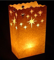 Wholesale Stars Candle Paper Bag Luminary Lantern Party Light FLAME RETARDANT Good Quality Brand New