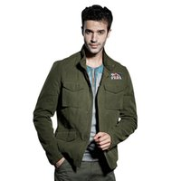 basics jacket mens - Fall Mens Autumn Basic jackets Military Windbreaker Jacket Army Button Zip Coats Long Sleeve Chaqueta Hombre Overcoat Big Size XL