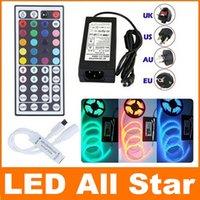Wholesale Best Price RGB Led Strips Light Waterproof M Leds SMD Mini Keys IR Remote Control V A Power Supply With EU AU US UK Plug