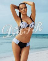 Cheap 2015's new swimwear swimsuit Steel prop gather swimsuit swim Beach swimwear swimsuit Denim fabric bikini bikini