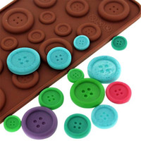 Wholesale Silicone chocolate mold cookies mold D Cute button shape cake decoration tools moldes de silicona para fondant kitchen tools