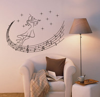 big room music - Hot music note wall stickers big size Vinyl DIY Removable fashion popular wall decals sitting room kids room wall stickers