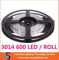 Wholesale 5M luminaire LED Flexible Strip Light SMD m LED DC V W M Non Waterproof Warm White Light Strip Roll