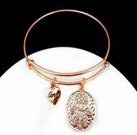 Wholesale Fashion Statement Charms woman Bracelet Alex and Ani Bangles Love palm Fathi eyes Metal Vintage Wristband