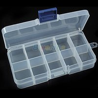 Wholesale New Storage Case Box Compartment for Nail Art Tips Sundeies Jewelry NR