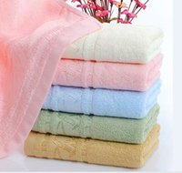 bath towels striped - 5 Colors x75cm x30 quot Bamboo Fiber Bath Towel Solid Pink Soft Towel Home Hotel Towels Quick Absorbency
