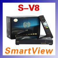 Cheap [Genuine] S-V8 Digital Satellite Receiver S V8 skybox V8 Set Top Box Support WEBTV USB Wifi 3G Weather Forecast Youporn CCCAMD NEWCAMD D0221