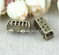 Wholesale RY19 MM Vintage school bus charms for bracelets DIY Jewelry