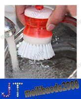 dish washing liquid - hydraulic washing brush For Cleaning bowl Dish Pot holloware Can add washing up liquid Convenient Kitchen Tools MYY10735A