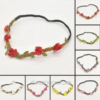 Wholesale 2015 New Arrive Women Girls Boho Floral Flower Hairband Headband For Festival Party Wedding J CMHM008 M6