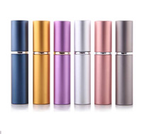 Wholesale Cheap Price ml perfume bottle Aluminium Anodized Compact Perfume Aftershave Atomiser Atomizer fragrance glass scent bottle Mixed color
