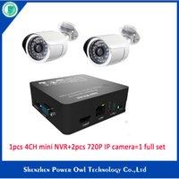 Wholesale 4CH Mini NVR P CAM KITS MP HD IP Camera SET Security Sureillance set CCTV IR CUT PnP P2P