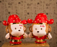 red monkey - New Cm Cm Chinese Monkey Year Zodiac Kung Hei Fat Choy Happy New Year Monkey Plush Dolls