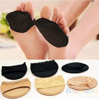 Wholesale 1Pair High heeled Shoes Lace Antiskid Slip Forefoot Stealth Ottomans Half Mat