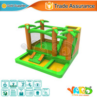 Wholesale YARD home use nylon bounce house inflatable castle combo slide bouncer with blower