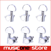 acoustic string pegs - Chrome L3R Grover Style Guitar String Tuning Pegs Keys Tuners Machine Heads Acoustic Electric Guitar MU0618