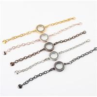 Cheap Newest Magnetic Crystal Floating Living Memory Glass Locket Bracelet Charm Lockets Bracelets 5pcs lot