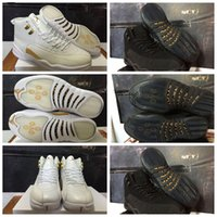 Wholesale Nike dan XII Retro October s OVO Drake Mens Basketball Shoes White Gold AJ12 Black For Men Sneakers Us Size