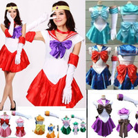 Wholesale New Adult Princess Costume Japanese Anime Sailor Moon Crystal Cosplay Fashion Clothing Set Club Party Wear Game Uniforms Fantasias
