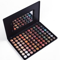 shadow boxes - 88 Color New Pro Eye Shadow Mineral Powder Makeup Metal Colour With Mirror Eye Shadow Palette Box Inch