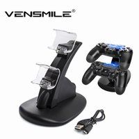 Wholesale TOP Dual USB Charging Dock Cradle Station Stand For PS4 LED Remote Controller Charger For Sony Playstation PS4 Gaming Controller