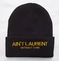 Wholesale Aint laurent Many Quality men women brand hip hop street beanies hats hiphop winter hats football basketball knitted sport caps snapbacks