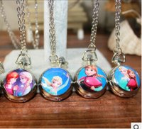best retail products - Retail Newest Hot Sale Products Frozen Cartoon Elsa Anna Olaf Pattern Watches Best Seller Metal Pocket Watch Snow Queen Design