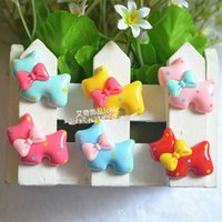 craft embellishments - 50pcs Mixed Resin dog bow Flatback Cabochon Scrapbooking Crafts DIY Embellishments x2 cm