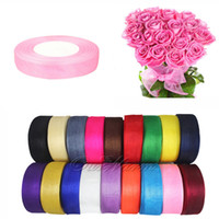 Wholesale 500 Yards rolls quot mm Organza Sheer Ribbon Craft Bow Wedding Supply Decor Colors OGB