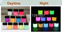 Wholesale Newest GLOW in the DARK Daytime Visible UV Re active Paint ml neon pigment drawing Halloween paint luminous set colors
